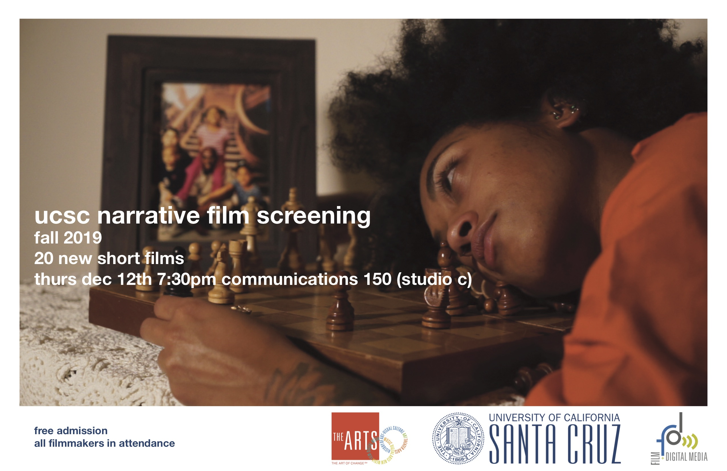 Flyer for Narrative Video final screening