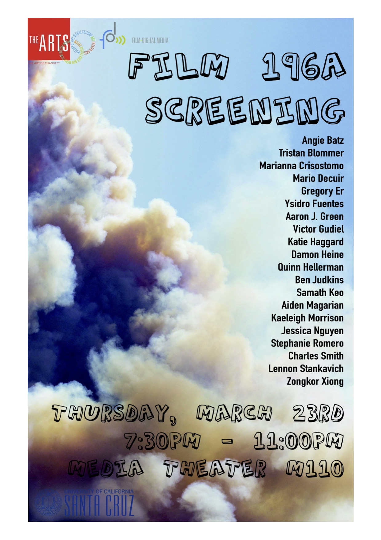 Flyer for Senior Production Screening