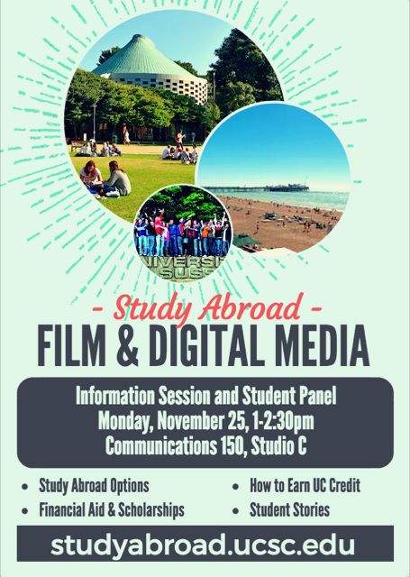 flyer for study abroad info session