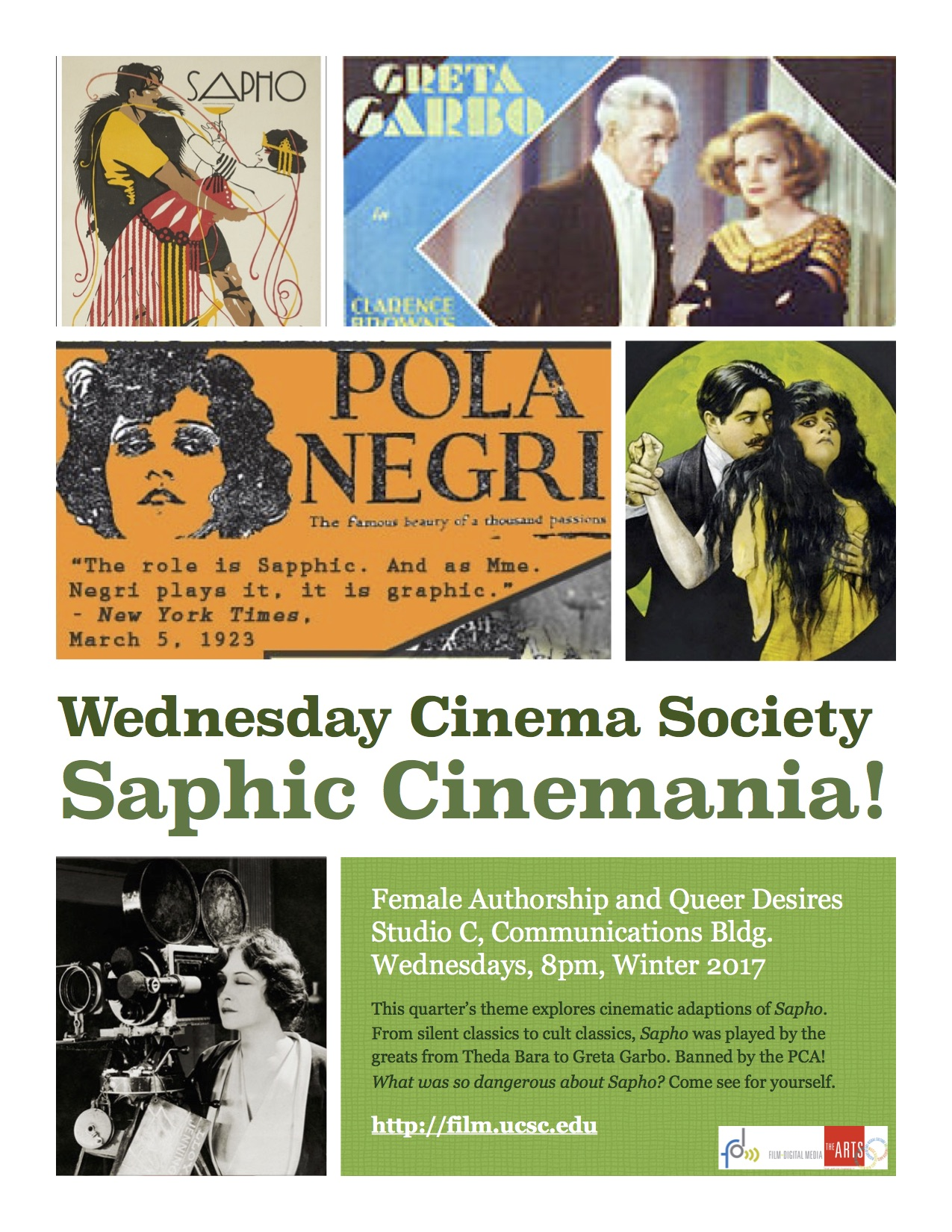 Flyer for Winter Quarter Wednesday Night Cinema Society