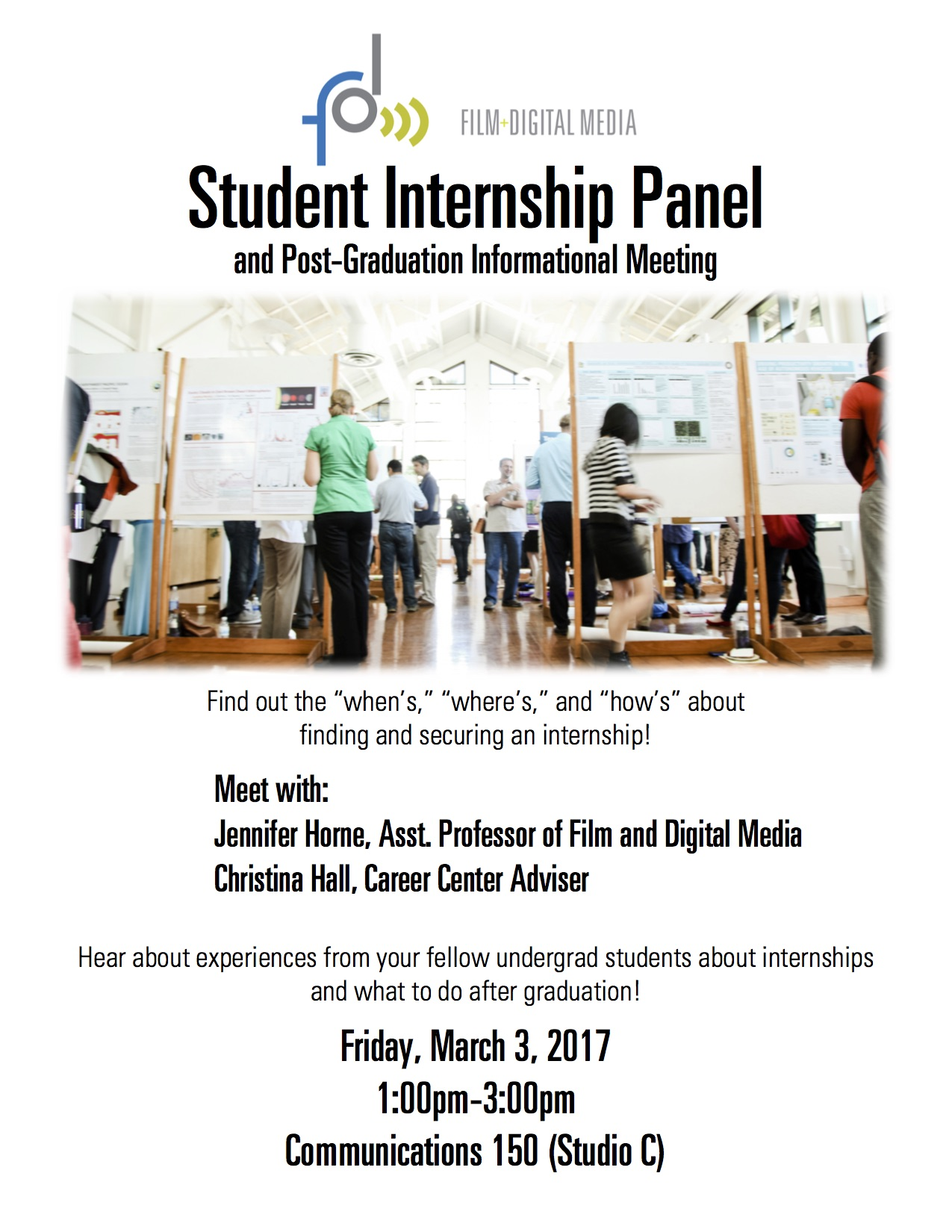 Flyer for Internship Panel