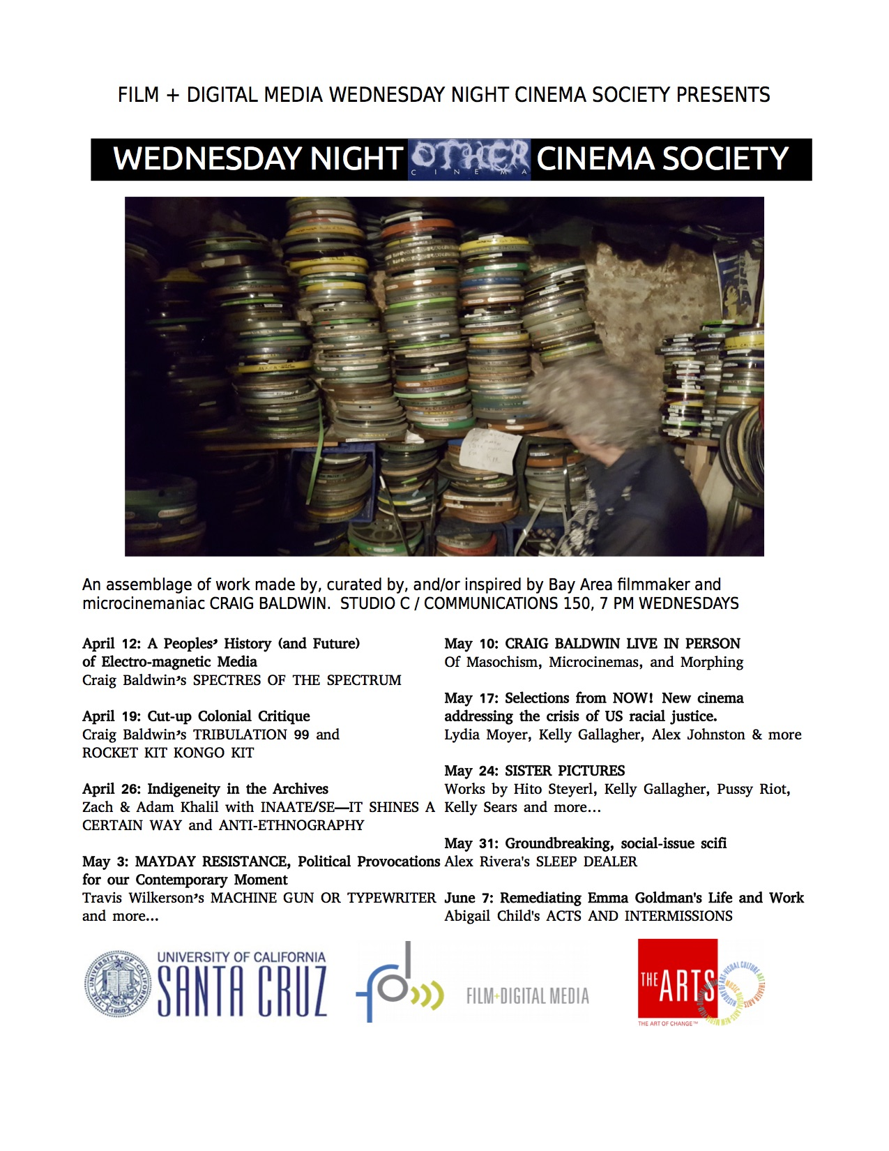 Flyer for Wednesday Night Cinema Society Spring 2017