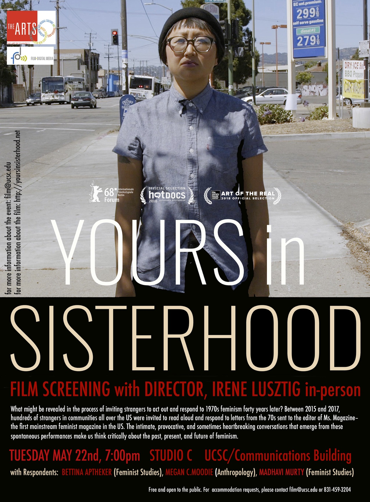 Yours in sisterhood event flyer