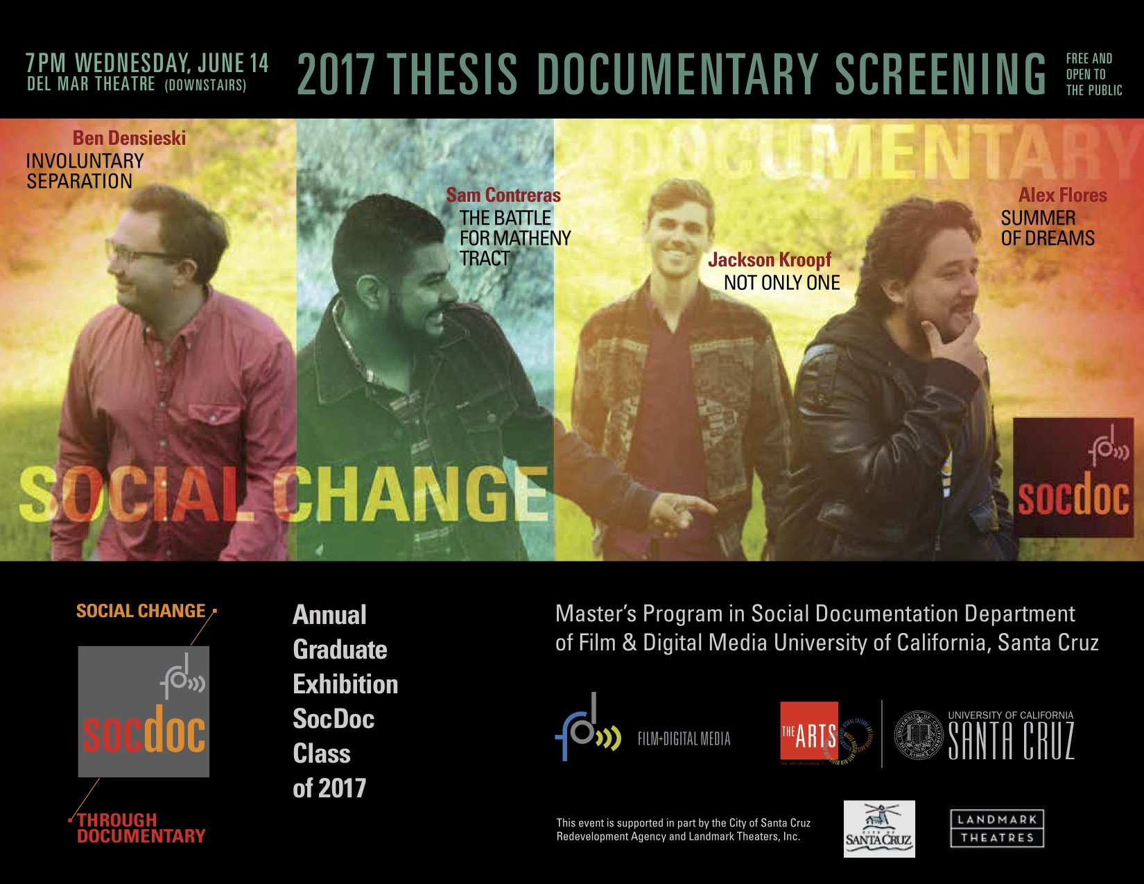 Social Documentation MA Thesis Screening Flyer