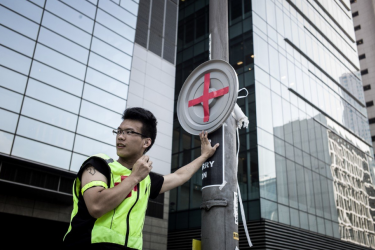 Medic at Hong Kong protests
