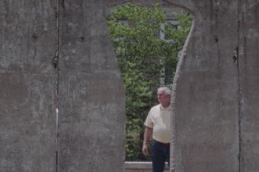 Person at Berlin Wall