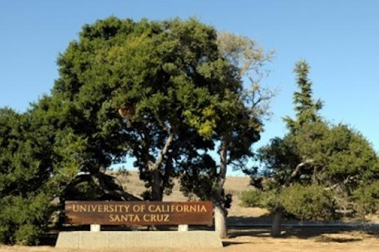 UC Santa Cruz Entrance Sign