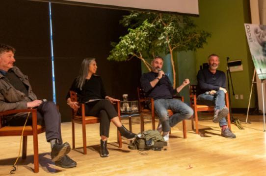 Panel at screening