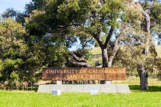 UC Santa Cruz Entrance Sign